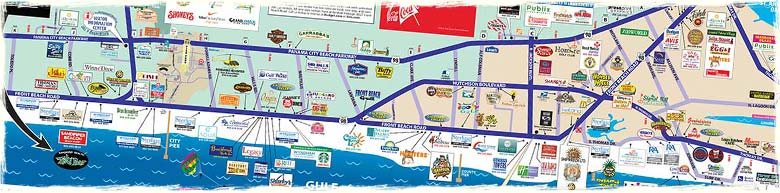 What is a Visitors Map for Panama City Beach and Panama City FL – Panama City Beach Tourist Map