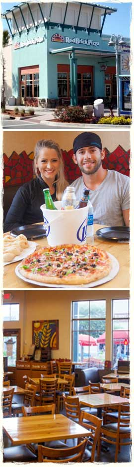 Red Brick Pizza Cafe in Panama City Beach, Florida